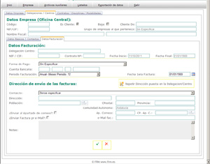 Gestion PRL Datos Facturacion